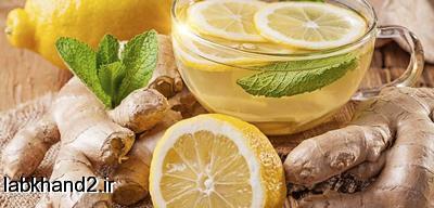 اموزش تهیه چای زنجبیل و لیمو ترش