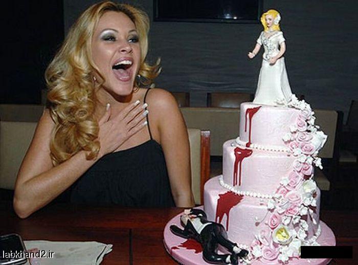 عکس های جالب از کیک های طلاق